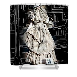 Victorian Lady Shower Curtain by John Haldane