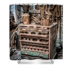 Victorian Workshop Shower Curtain by Adrian Evans