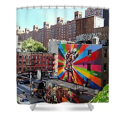View From The Highline Shower Curtain by Ed Weidman