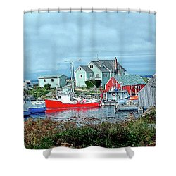 View Of Cove Shower Curtain by Kathleen Struckle