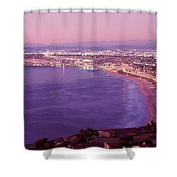 View Of Los Angeles Downtown Shower Curtain by Panoramic Images