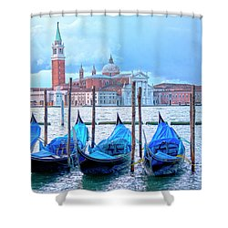View To San Giorgio Maggiore Shower Curtain by Heiko Koehrer-Wagner