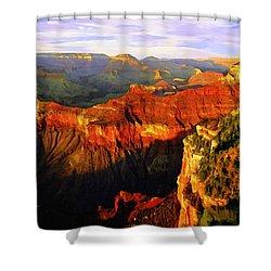 View - Yavapai Point Shower Curtain by Bob and Nadine Johnston