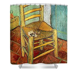 Vincent's Chair 1888 Shower Curtain by Vincent van Gogh