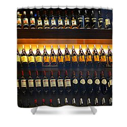 Vino Shower Curtain by Laura Fasulo