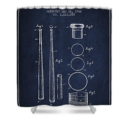 Vintage Baseball Bat Patent From 1926 Shower Curtain by Aged Pixel