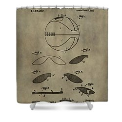 Vintage Basketball Patent Shower Curtain by Dan Sproul