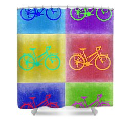 Vintage Bicycle Pop Art 2 Shower Curtain by Naxart Studio