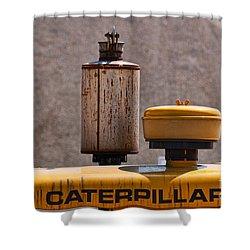 Vintage Caterpillar Machine Shower Curtain by Les Palenik