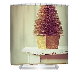 Vintage Christmas Treee Shower Curtain by Amanda Elwell