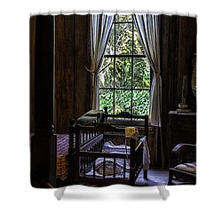 Vintage Crib And Bedroom Shower Curtain by Lynn Palmer