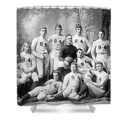 Vintage Football Circa 1900 Shower Curtain by Jon Neidert