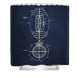 Vintage Football Patent Drawing From 1923 Shower Curtain by Aged Pixel
