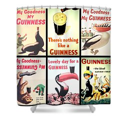 Vintage Guinness  Shower Curtain by Georgia Fowler