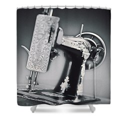 Vintage Machine Shower Curtain by Kelley King