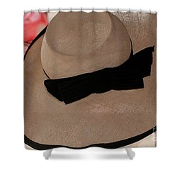 Vintage Picture Hat Shower Curtain by Kathleen Struckle