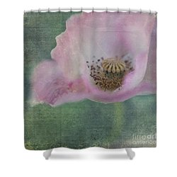 Vintage Poppy Shower Curtain by Priska Wettstein