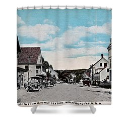 Vintage Postcard Of Wolfeboro New Hampshire Shower Curtain by Valerie Garner