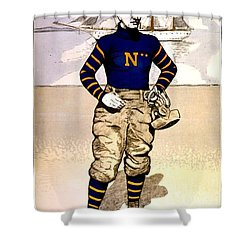 Vintage Poster - Naval Academy Midshipman Shower Curtain by Benjamin Yeager