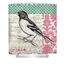 Vintage Songbird 2 Shower Curtain by Debbie DeWitt