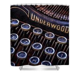 Vintage Typewriter 2 Shower Curtain by Scott Norris