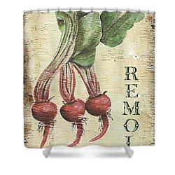Vintage Vegetables 3 Shower Curtain by Debbie DeWitt