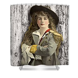 Vintage Woman In Uniform Shower Curtain by Peggy Collins