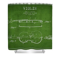 Violin Patent Drawing From 1928 Shower Curtain by Aged Pixel