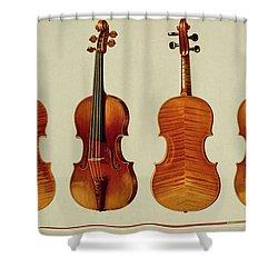 Violins Shower Curtain by Alfred James Hipkins