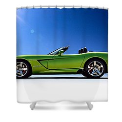Viper Roadster Shower Curtain by Douglas Pittman