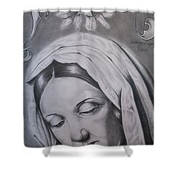 Virgin Mary Shower Curtain by Anthony Gonzalez