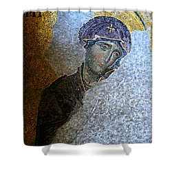 Virgin Mary Shower Curtain by Stephen Stookey