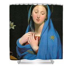 Virgin Of The Adoption Shower Curtain by Jean Auguste Dominique Ingress