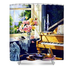 Virginia Waltz Shower Curtain by Hanne Lore Koehler