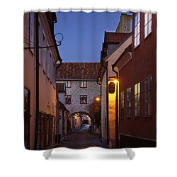 Visby Evening  Shower Curtain by Ladi  Kirn