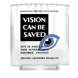 Vision Can Be Saved - Wpa Shower Curtain by War Is Hell Store
