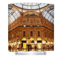 Vittorio Emanuele II Gallery Milan Italy Shower Curtain by Michal Bednarek