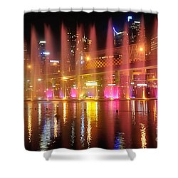 Vivid Sydney By Kaye Menner -  Vivid Aquatique  Shower Curtain by Kaye Menner