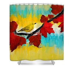 Vividness Shower Curtain by Lourry Legarde