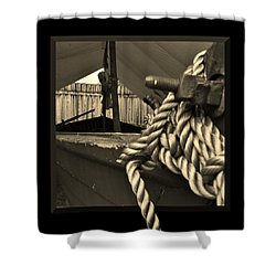 Voyage To The New World Shower Curtain by Barbara St Jean
