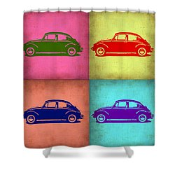Vw Beetle Pop Art 1 Shower Curtain by Naxart Studio