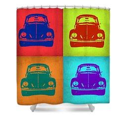 Vw Beetle Pop Art 5 Shower Curtain by Naxart Studio