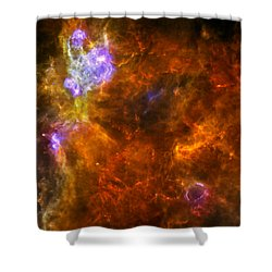 Shower Curtain featuring the photograph W3 Nebula by Science Source