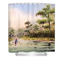 Wacissa River  Shower Curtain by Bill Holkham