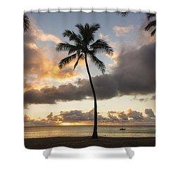 Waimea Beach Sunset - Oahu Hawaii Shower Curtain by Brian Harig