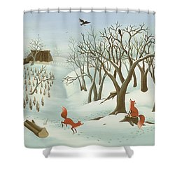 Waiting For Better Times Shower Curtain by Magdolna Ban