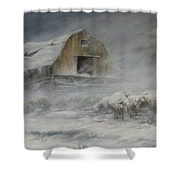 Waiting Out The Storm Shower Curtain by Mia DeLode