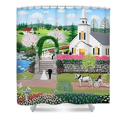 Walk With My Father Shower Curtain by Wilfrido Limvalencia