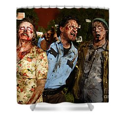 Walking Dead Shower Curtain by Nina Prommer