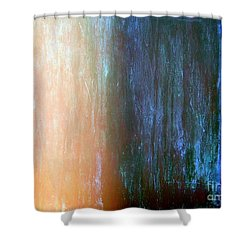 Wall Abstract Shower Curtain by Ed Weidman
